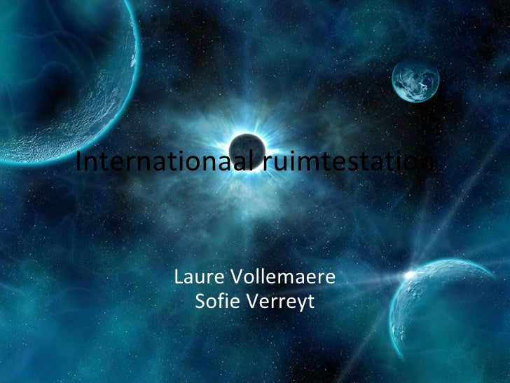 Internationaal ruimtestation Laure Vollemaere Sofie Verreyt