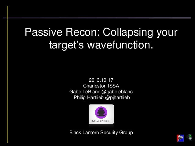 Passive Recon: Collapsing your target's wavefunction.