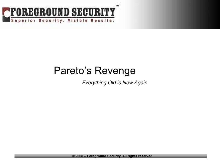 Issa Vancouver 6 09  Pareto's Revenge