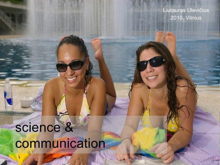 science & communicatio