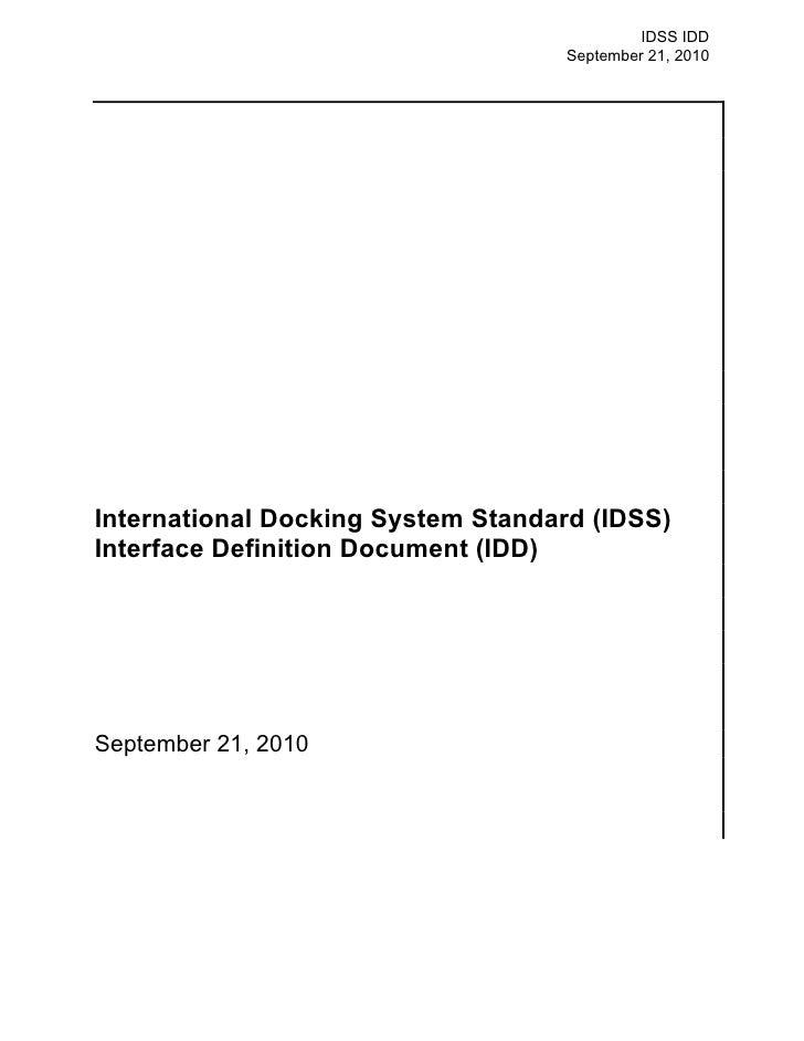 ISS Docking Standards