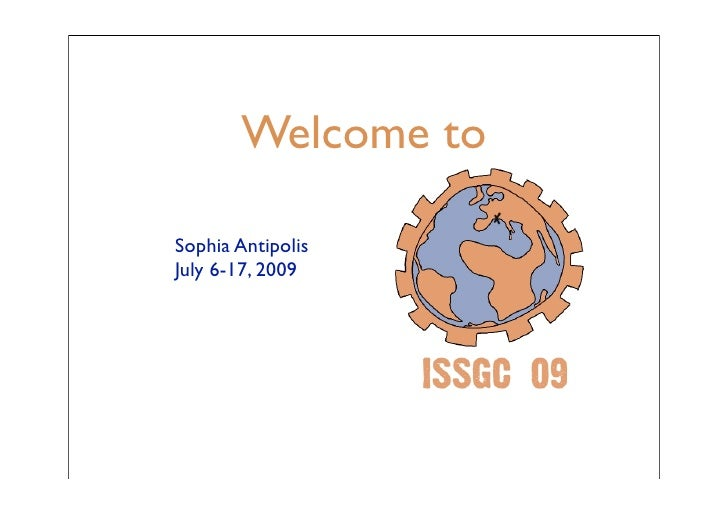 Issgc Welcome
