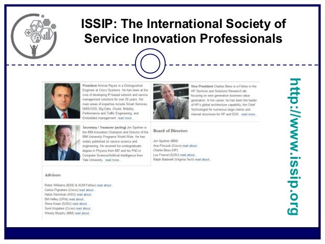 ISSIP: The International Society of Service Innovation Professionals                                      http://www.issip...