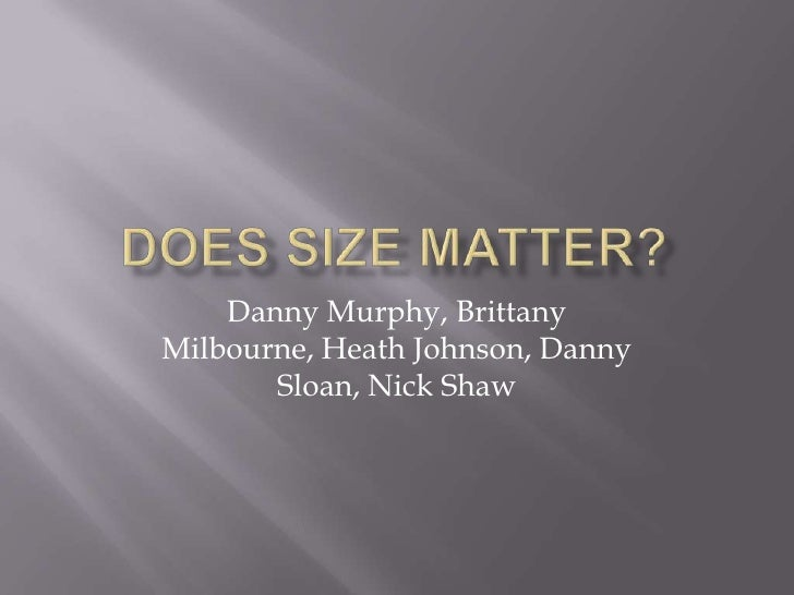 Is size matters