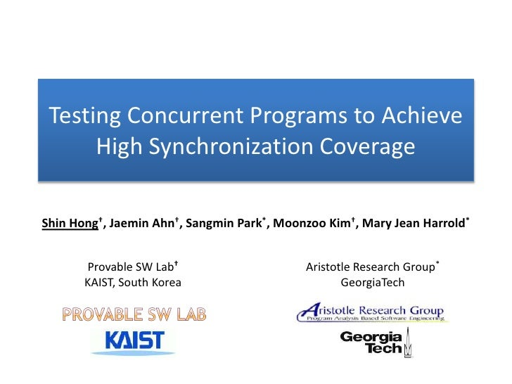 Testing Concurrent Programs to Achieve High Synchronization Coverage
