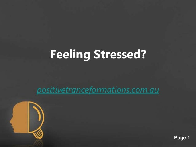 Is stress your problem