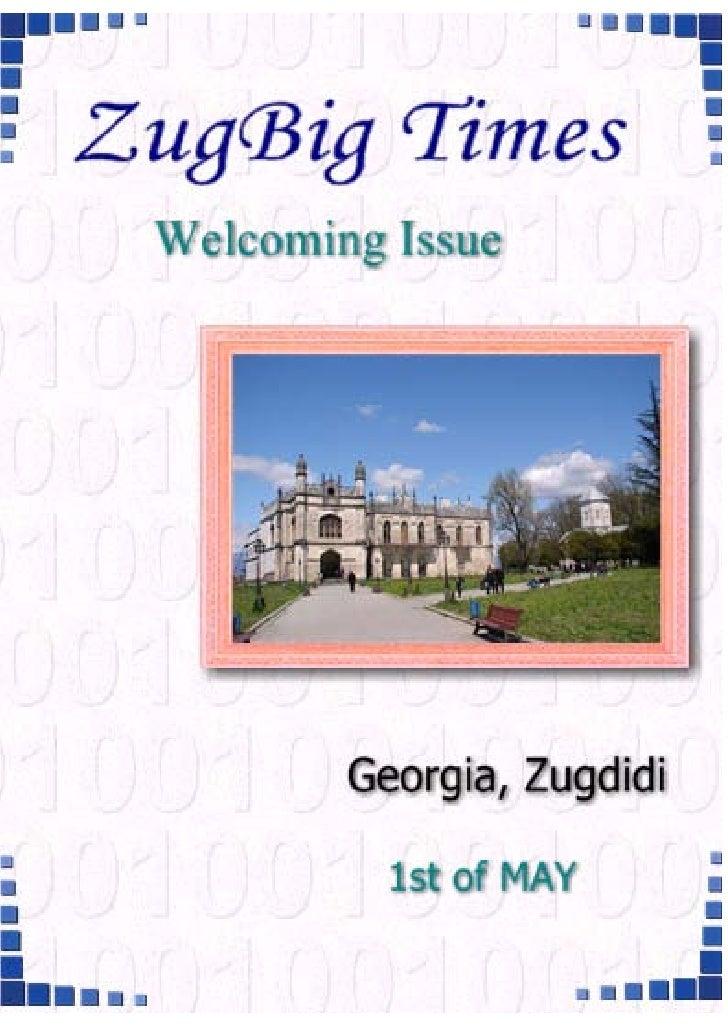 Zugdidi 1st Regional Session - Issue 1