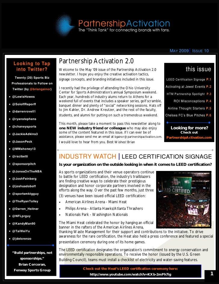 Partnership Activation 2.0 Newsletter
