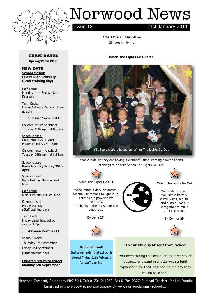 Norwood News                                          Issue 18                                             21st January 20...