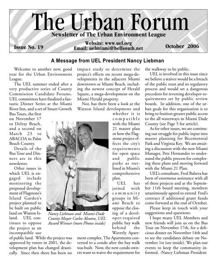 UEL Newsletter - Issue19