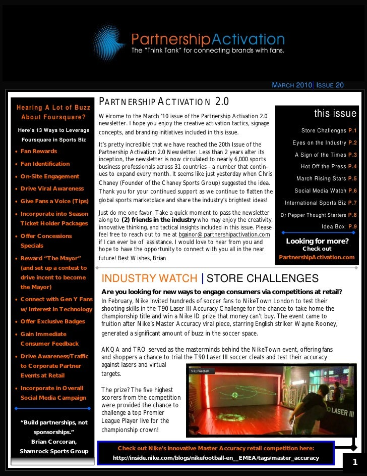 March 2010 Partnership Activation 2.0 Newsletter
