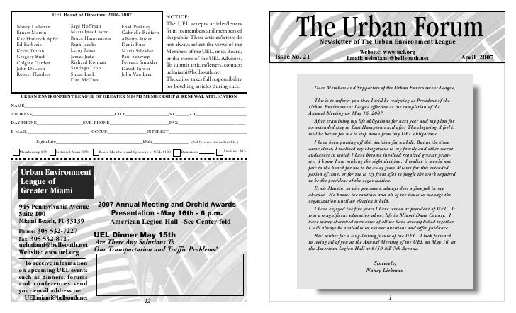 UEL Newsletter - Issue21