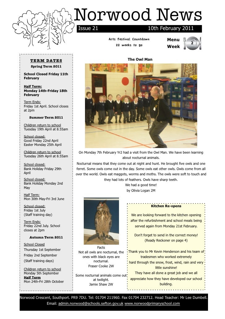 Norwood News                                     Issue 21                                        10th February 2011       ...