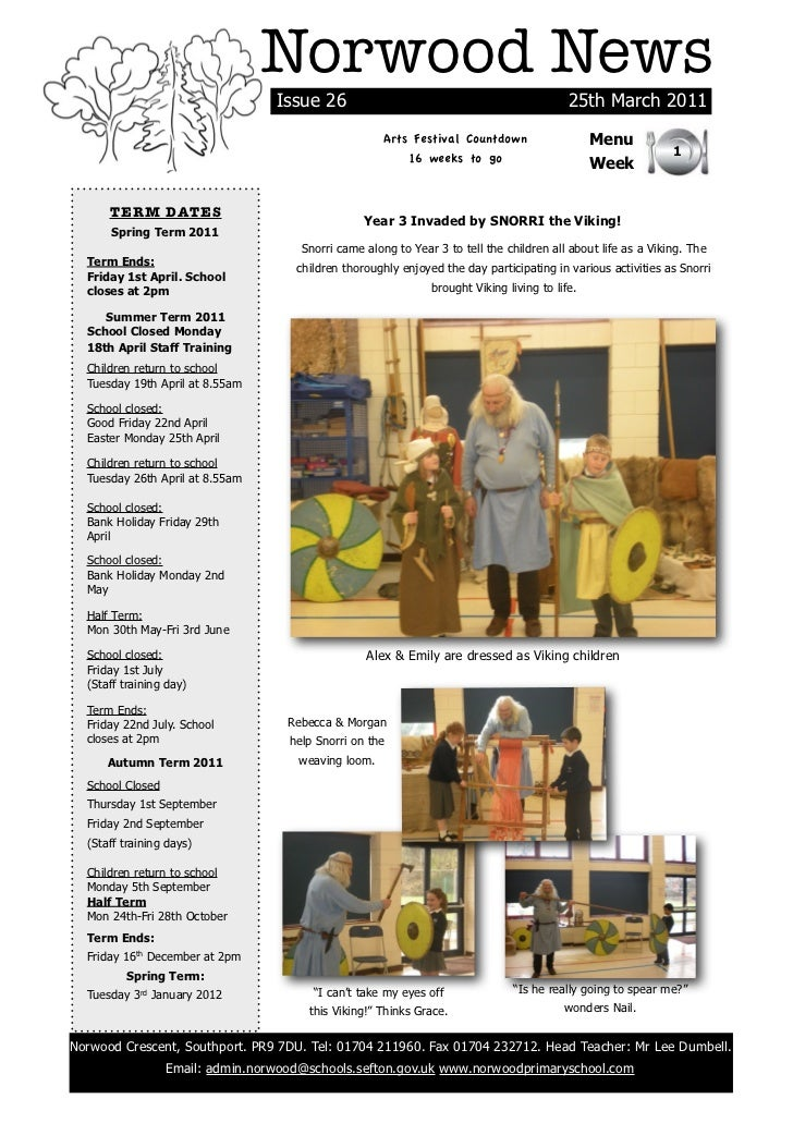 Norwood News                                  Issue 26                                                 25th March 2011    ...