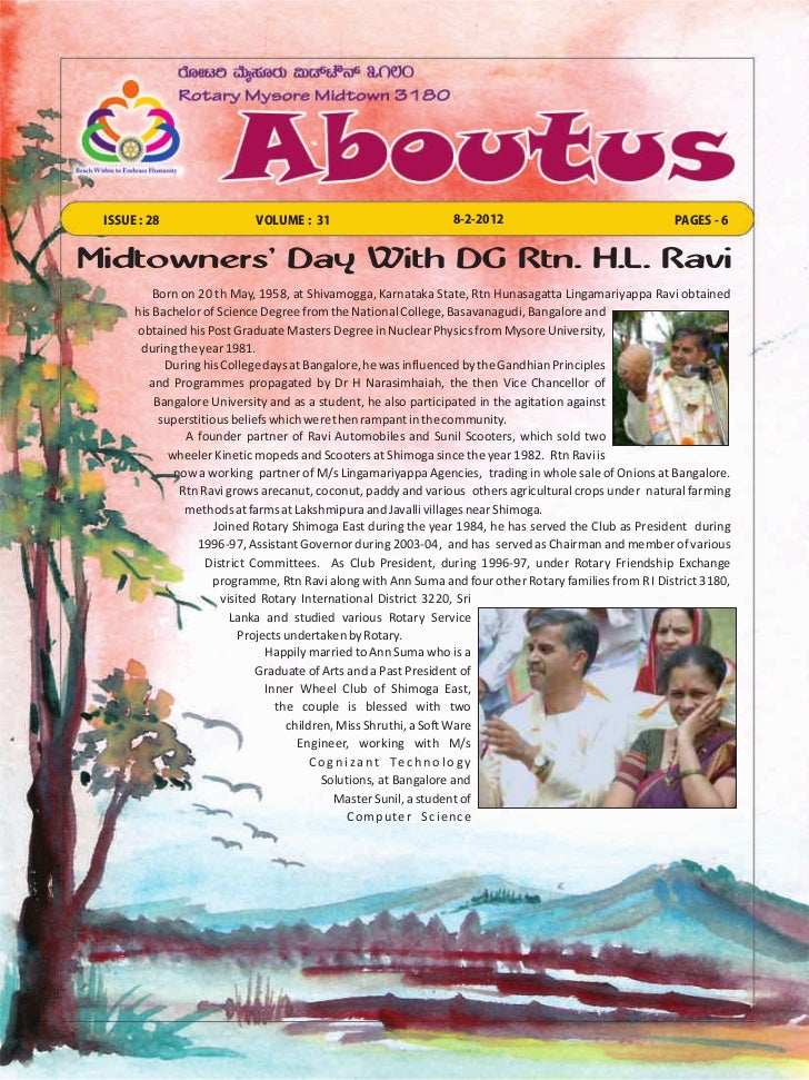 ISSUE : 28                 VOLUME : 31                         8-2-2012                                PAGES - 6Midtowners...