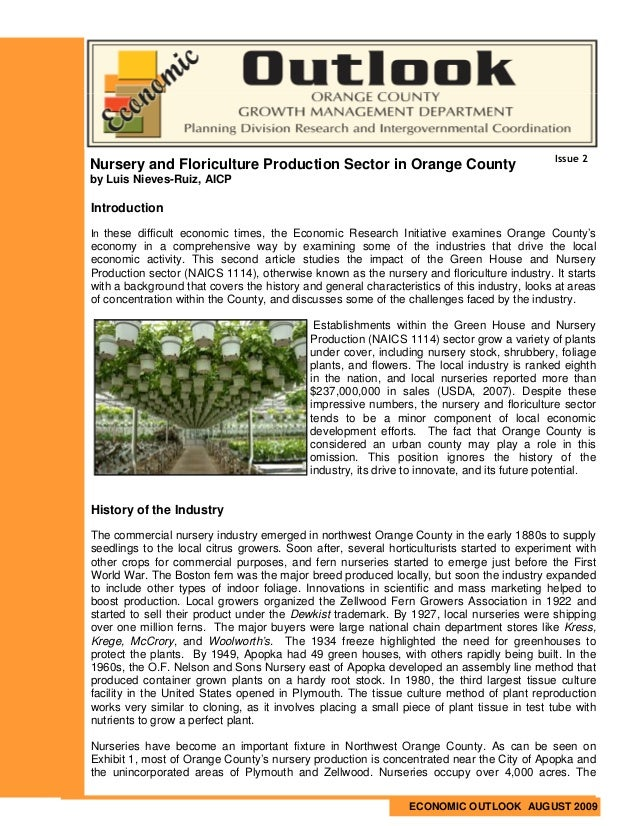 Issue 2Nursery and Floriculture Production Sector in Orange Countyby Luis Nieves-Ruiz, AICPIntroductionIn these difficult ...