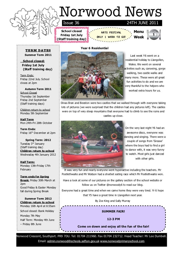 Norwood News                                    Issue 36                                                 24TH JUNE 2011   ...