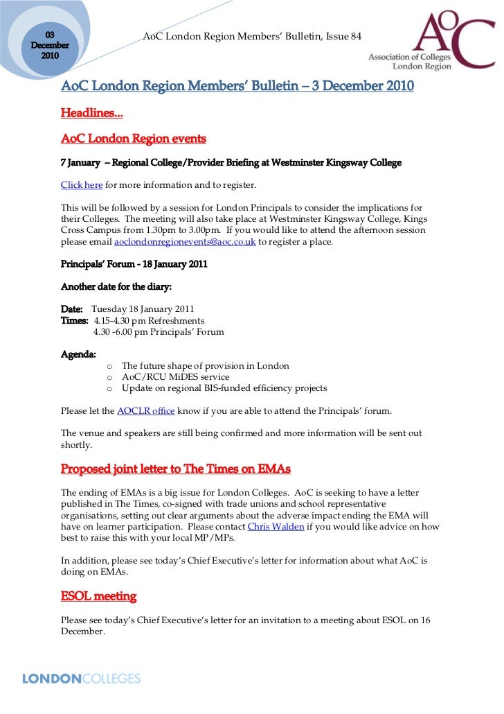 03                     AoC London Region Members' Bulletin, Issue 84December  2010      AoC London Region Members' Bulleti...