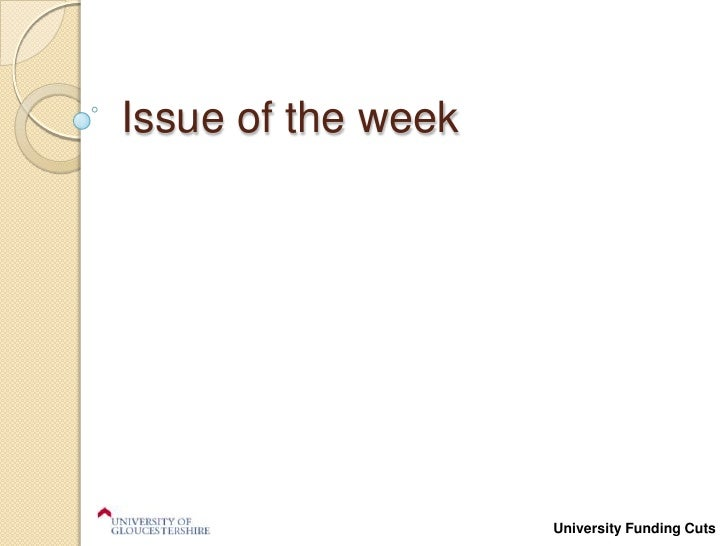 Issue of the week<br />