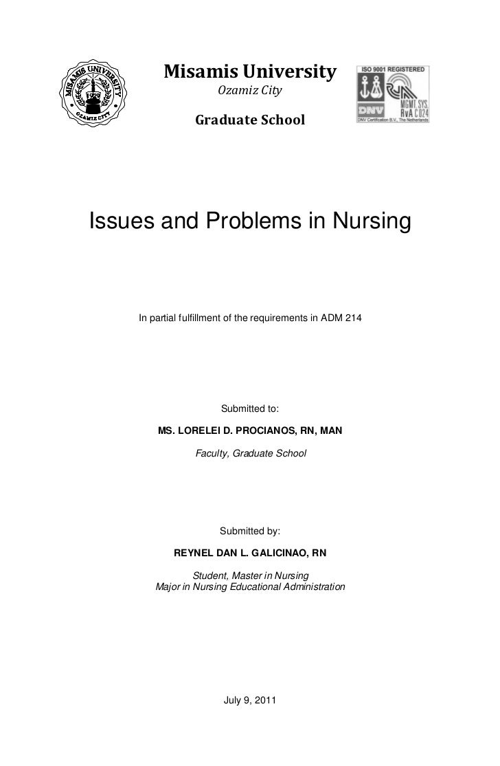 Issues and problems in nursing