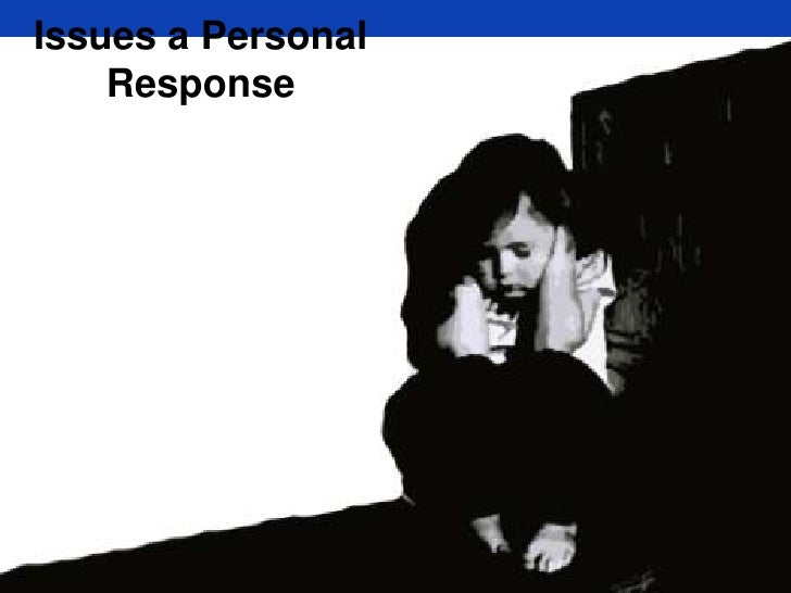 Issues a Personal Response<br />
