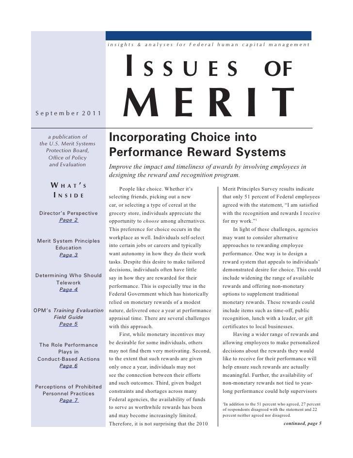 Issues of Merit
