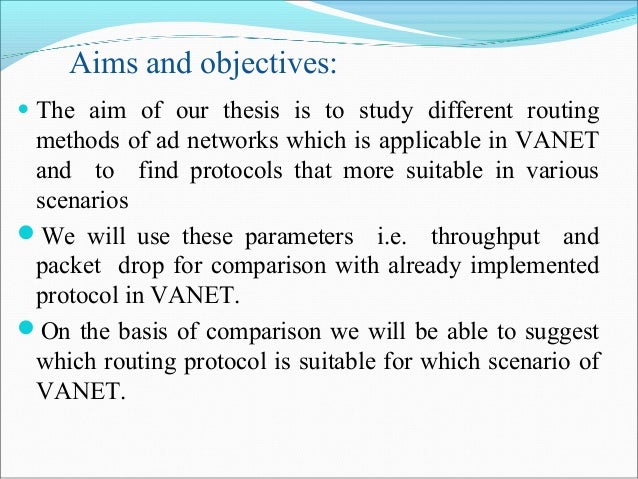 aims and scope of thesis