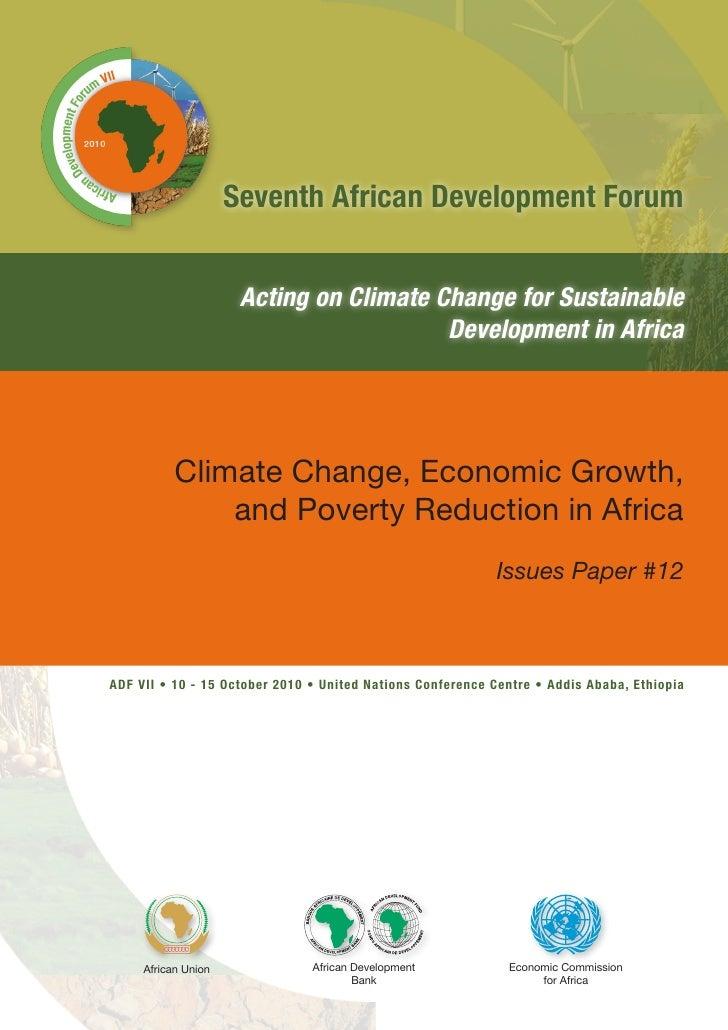 Seventh African Development Forum                      Acting on Climate Change for Sustainable                           ...