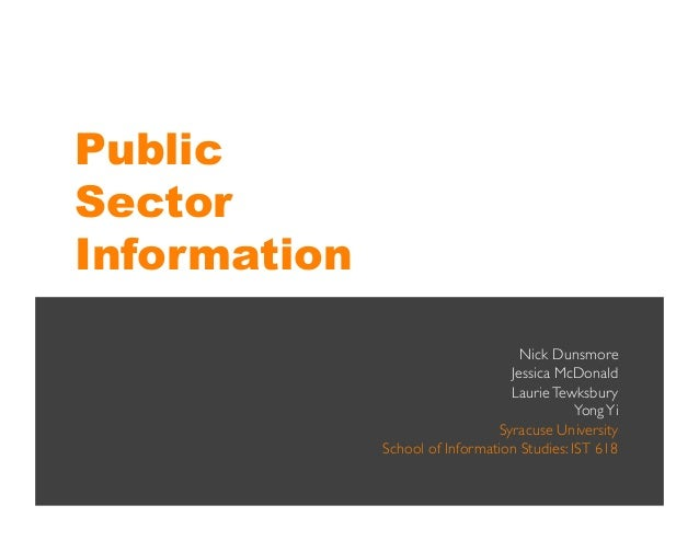 Information Policy: Public Sector Information