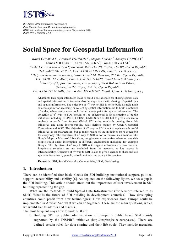 Social Space for Geospatial Information