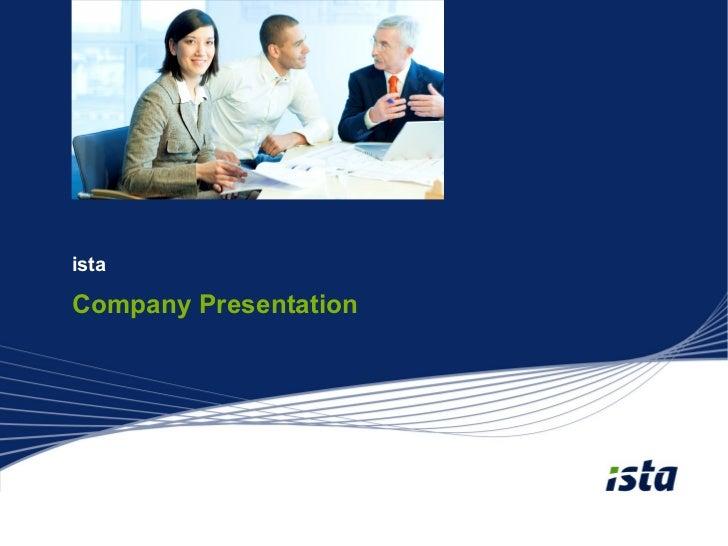 istaCompany Presentation
