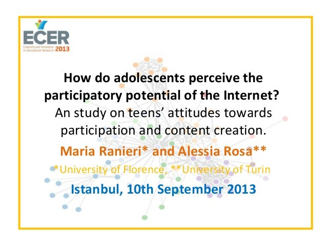 How do adolescents perceive the participatory potential of the Internet?
