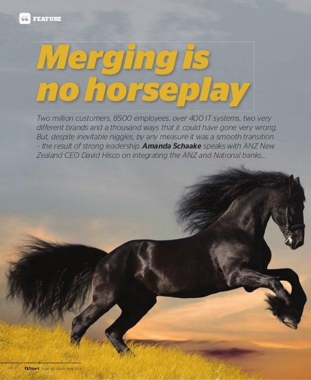 iStart - ANZ bank merger is no horseplay