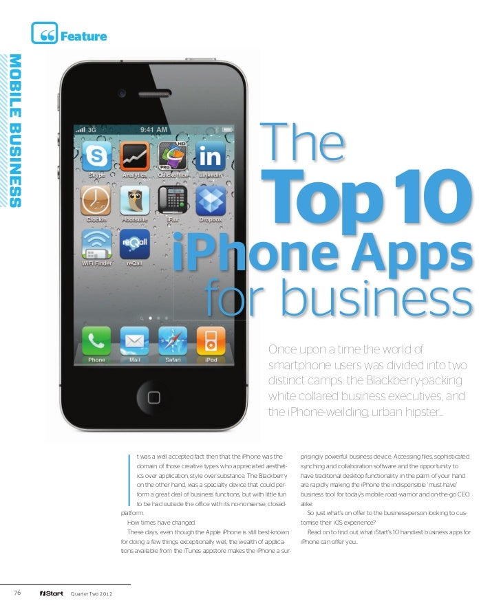 iStart - Top 10 iPhone Apps for business