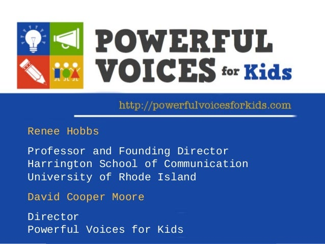 Powerful Voices for Kids: Digital and Media Literacy in K-2