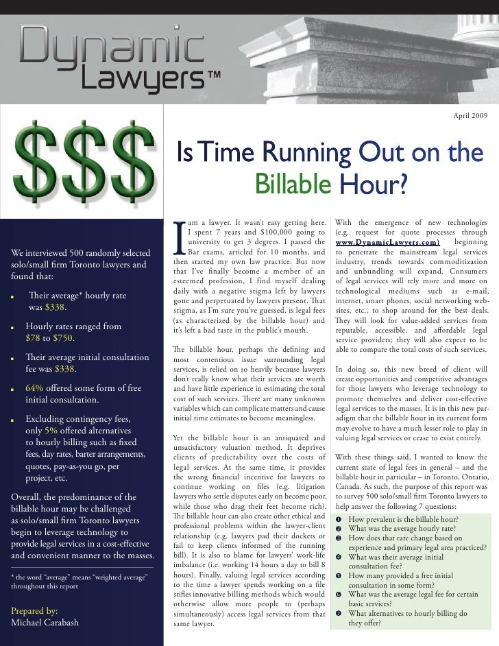 Is time running out_on_the_billable_hour