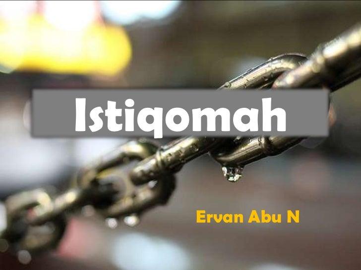 Istiqomah