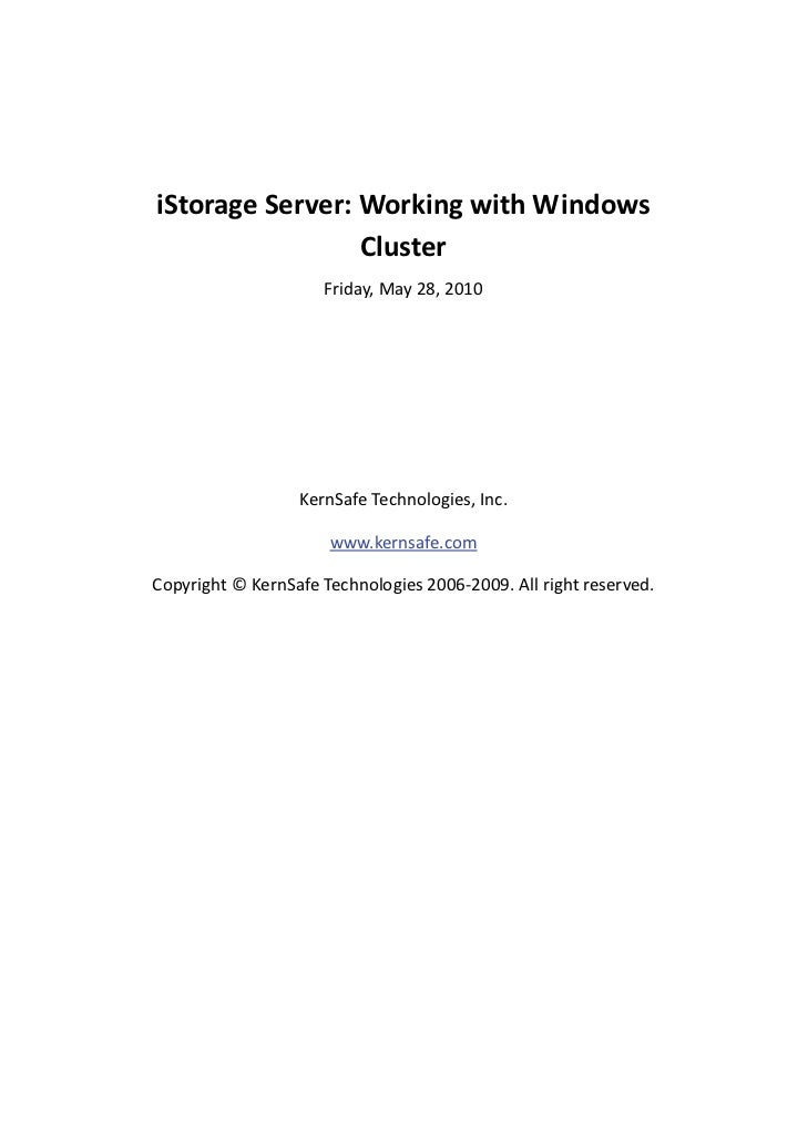 iStorage Server - High Availability iSCSI SAN for Windows Server 2003