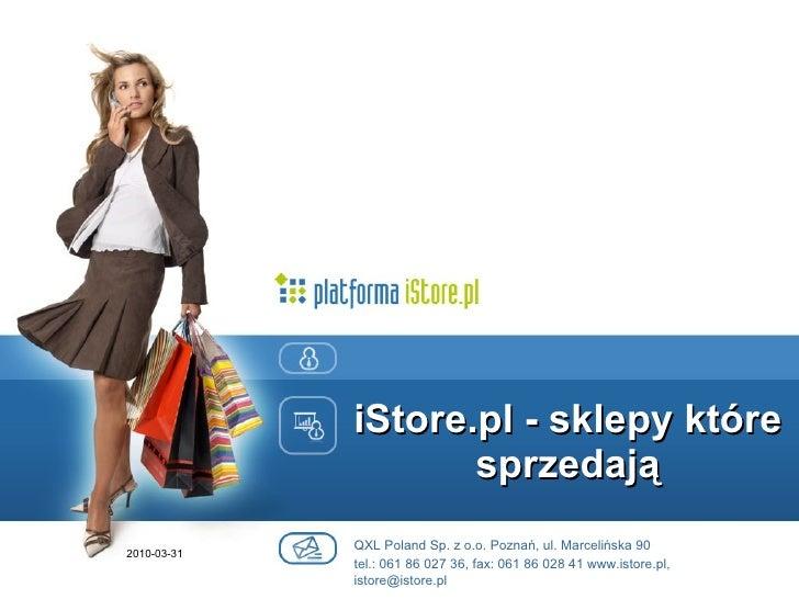platforma sklepowa iStore.pl - prezentacja