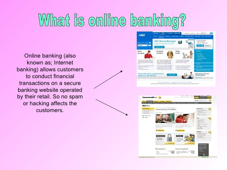 What is online bank?