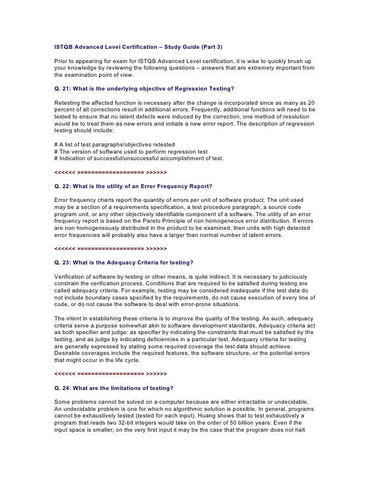 ISTQB Advanced Study Guide - 3