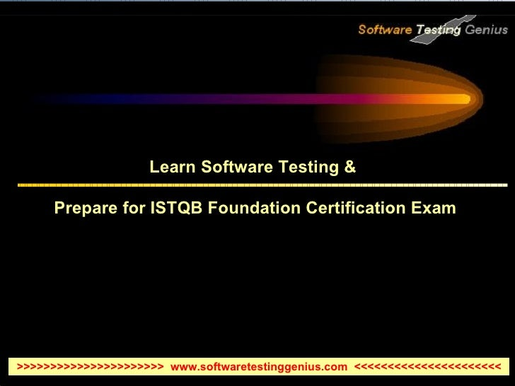 Learn Software Testing for ISTQB Foundation Exam