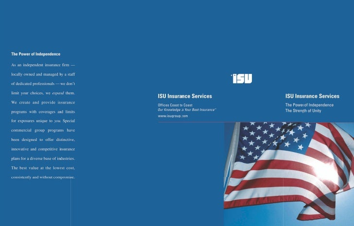 The Strength Of UnityOur firm is proud of its af    filiationwith ISU, a national network ofhighly professional independen...