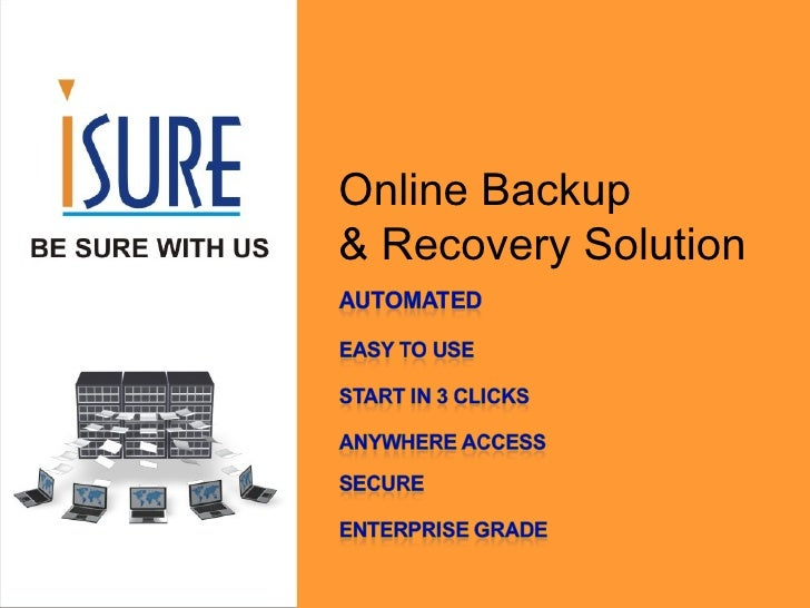 Online Backup  & Recovery Solution
