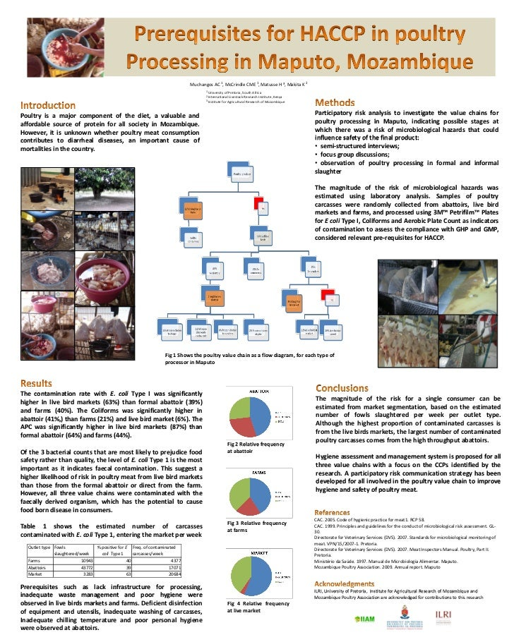Prerequisites for HACCP in poultry processing in Maputo, Mozambique