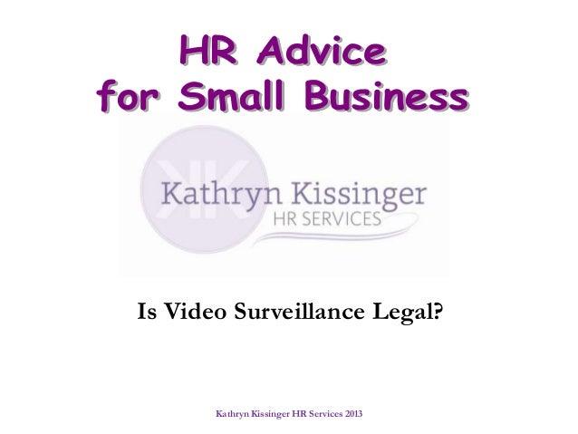 Is Video Surveillance Legal