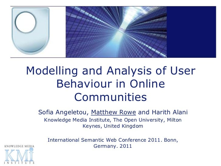Modelling and Analysis of User    Behaviour in Online        Communities  Sofia Angeletou, Matthew Rowe and Harith Alani  ...