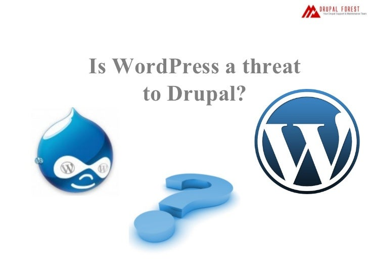 Is wordpress a threat to drupal