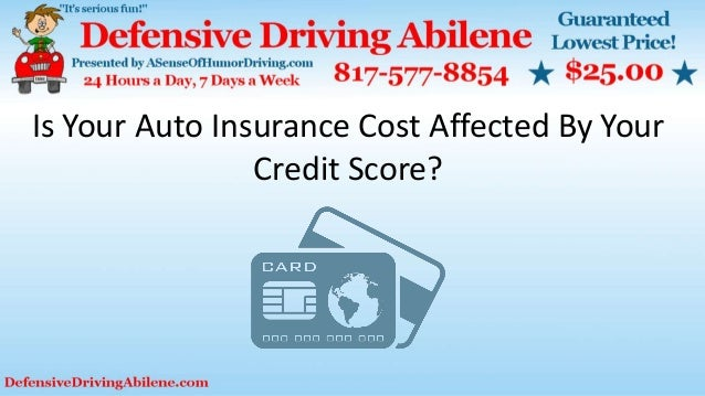 Creative Is Your Auto Insurance Cost Affected By Your Credit Score