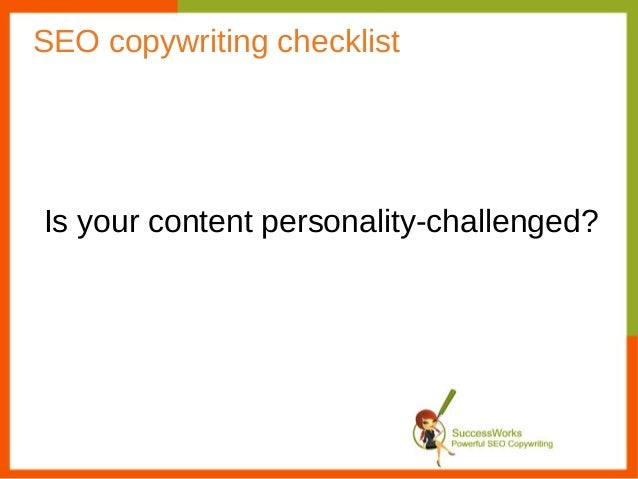 SEO Copywriting Checklist: Is your content personality challenged?
